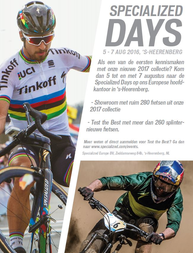 Flyer Specialized Days 5-7 augustus